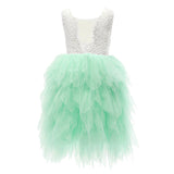 Flower Girls Tutu Party Dress Sleeveless Beading Maxi Dress - everprincess