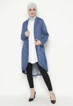 Tanisha Cardigan Oxford Blue