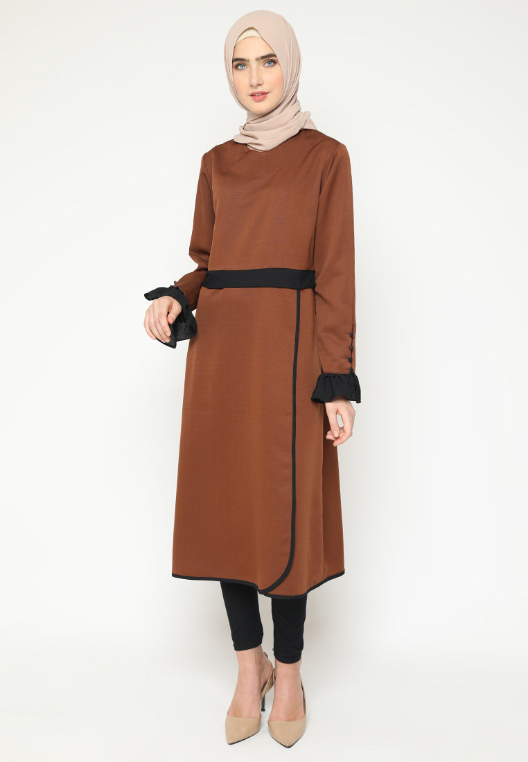 Shalla Tunik Dark Brown