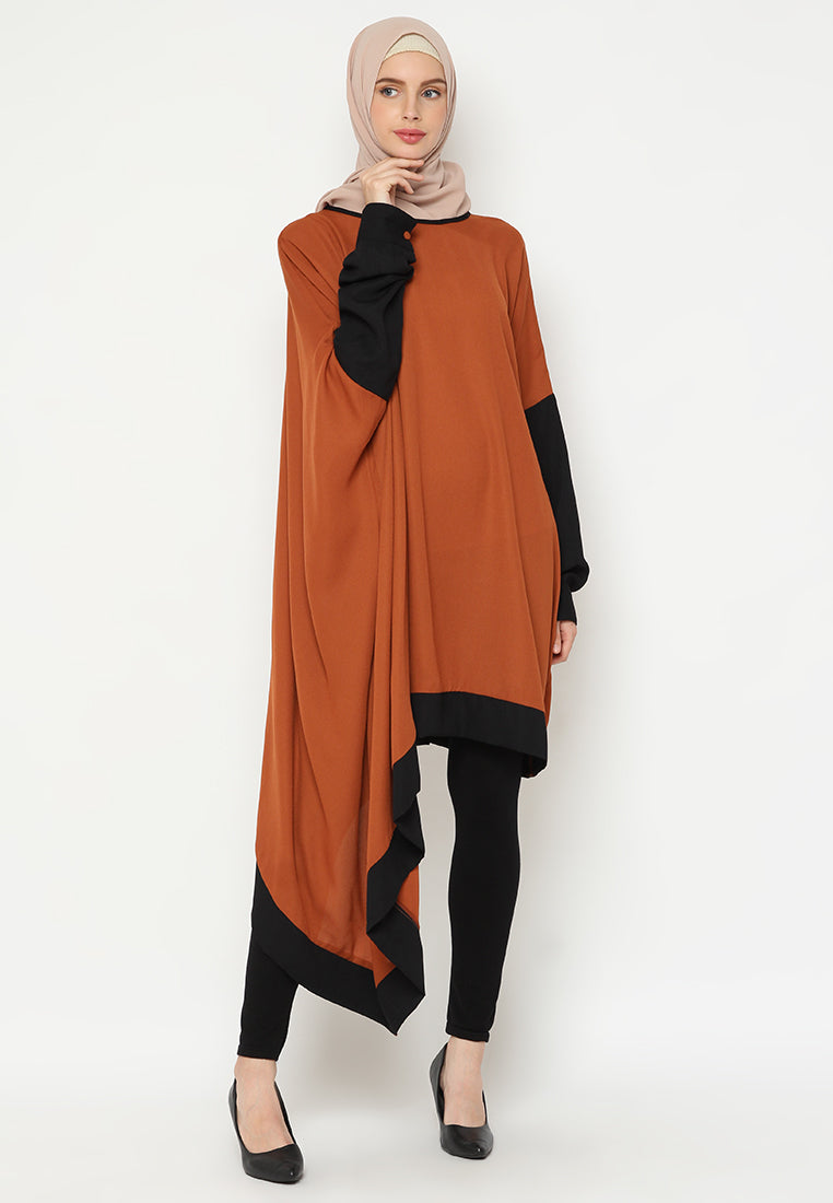 Qania Tunik Dark Orange