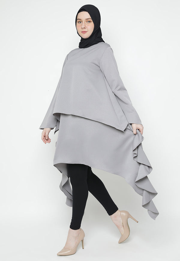 Zarmina Tunik Light Grey