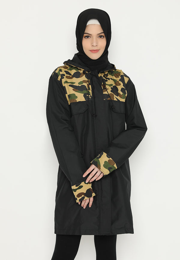 Edrea Jacket Black-Army