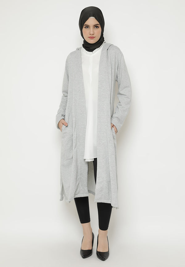 Khairisa Cardigan Light Grey Fosil