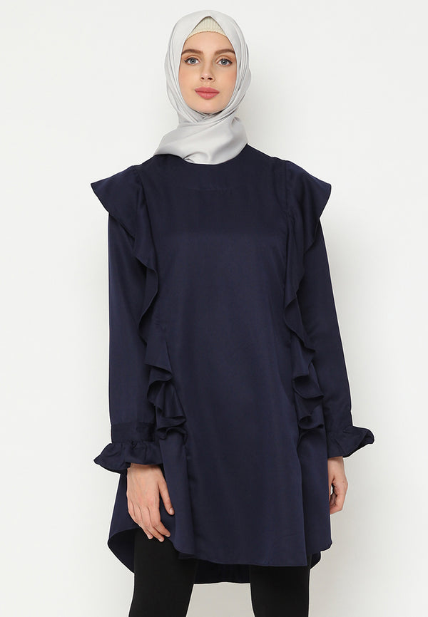 Muthiah Blouse Navy