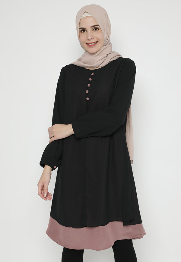 Khaira Tunik Black Dusty