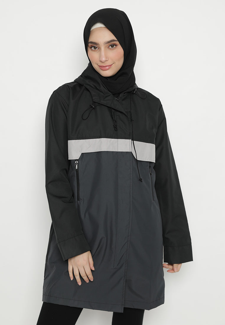 Naura Jacket Black-Grey