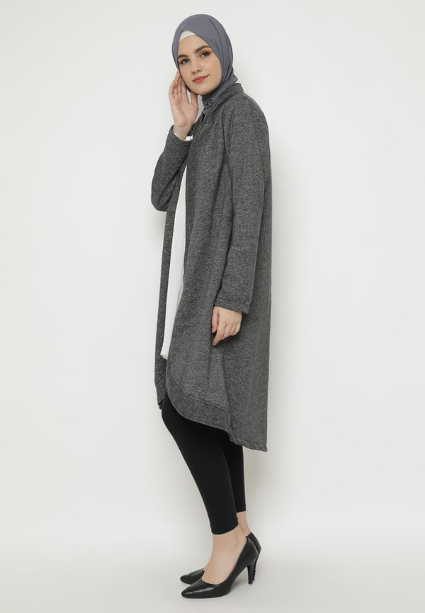 Tanisha Cardigan Dark Grey Charcoal