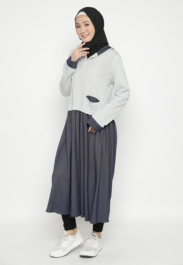 Nara Tunik Fosil-Midnight Blue