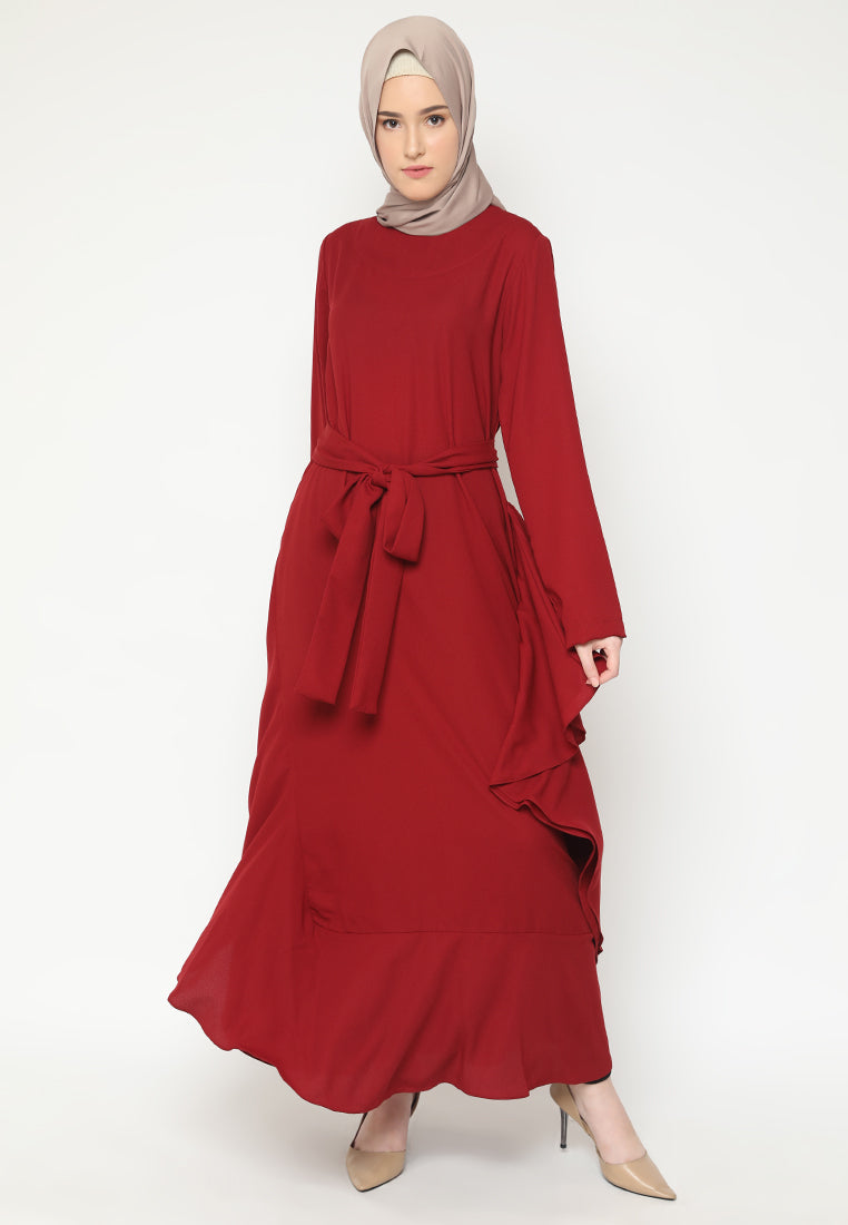 Zahrani Dress Red