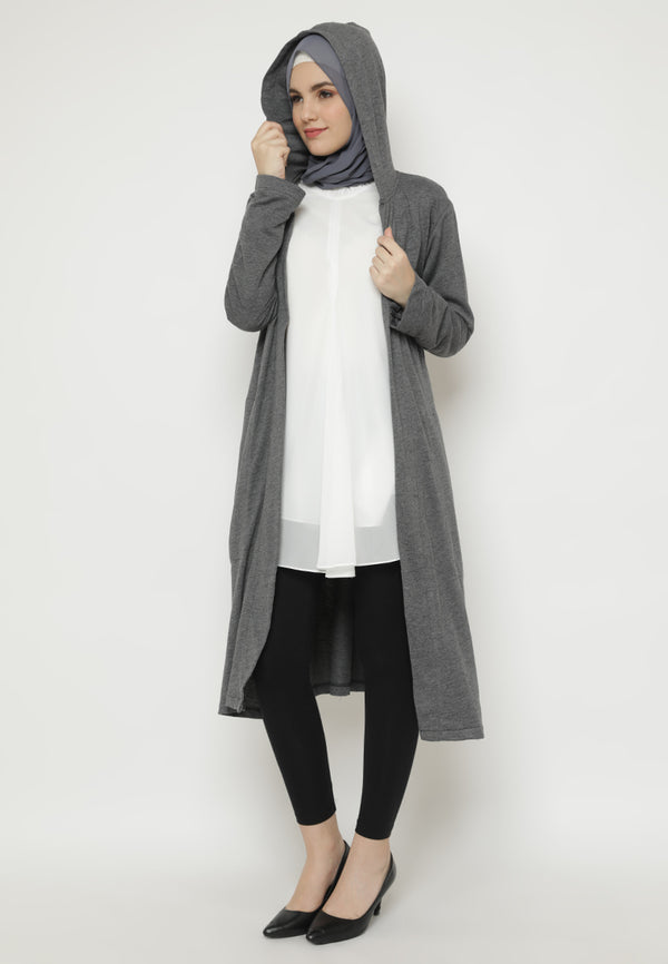 Khairisa Cardigan Dark Grey Steel