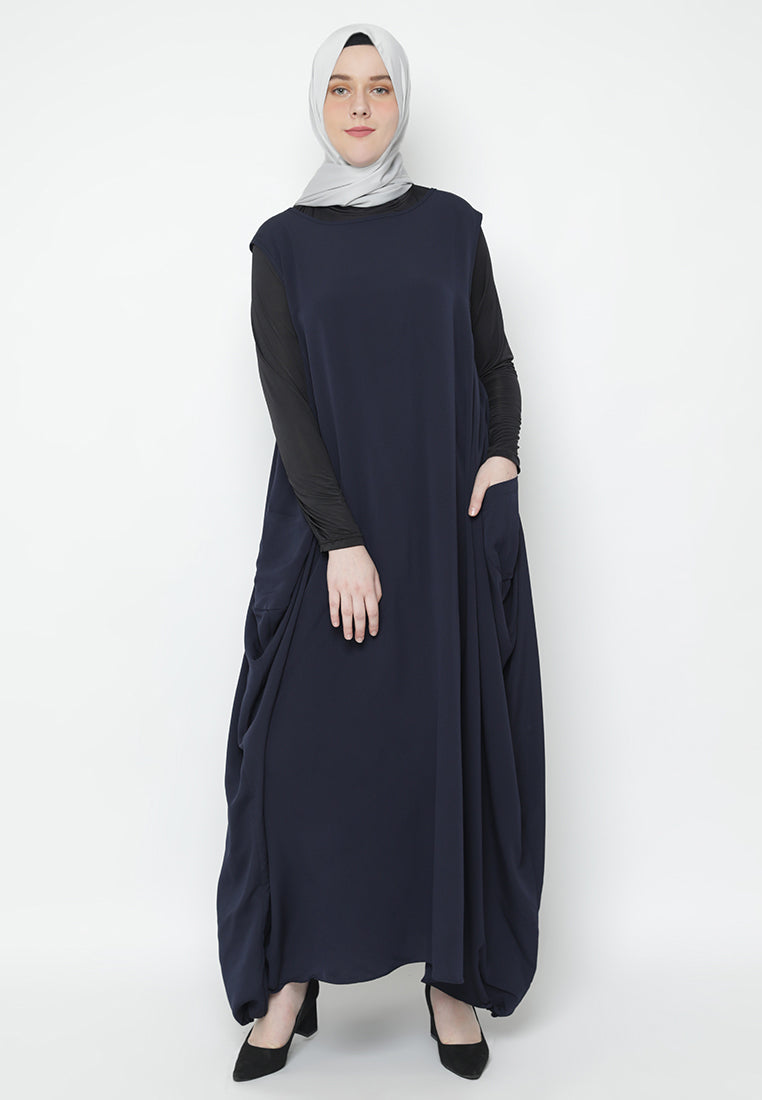 Anya Overall Dress Navy