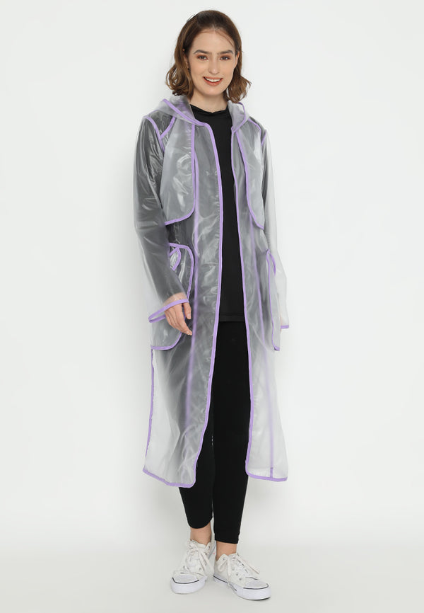 Quinnsha Rain Coat Purple