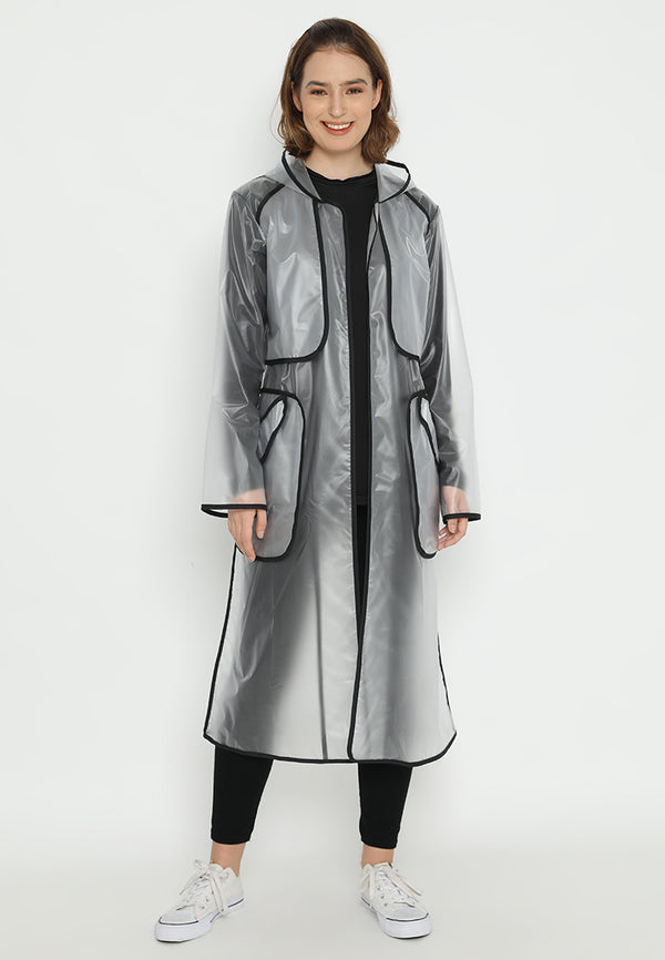 Quinnsha Rain Coat Black