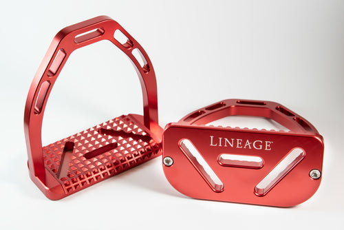 Lineage Stirrups in Crimson Red (Limited Edition)
