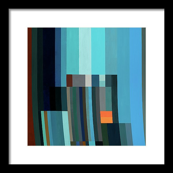 Fire In The Evening - Framed Print