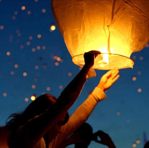 Paper Chinese Sky Lanterns (5-pack)