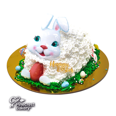 Easter Bunny Shaped Cake White