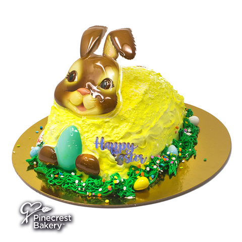 Easter Bunny Shaped Cake Brown