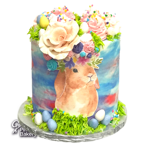Easter Buttercream Bunny Tye-Dye