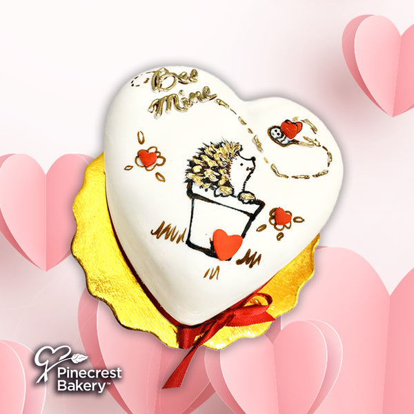 "Valentine ""Porcu-mine"" Mini Heart Cake"