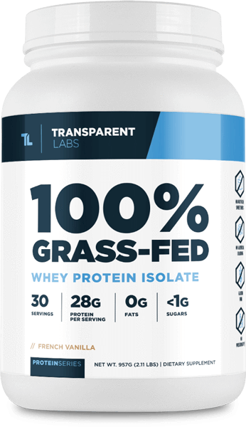 Transparent Labs - 100% Grass-Fed Whey Isolate Protein (2lbs)