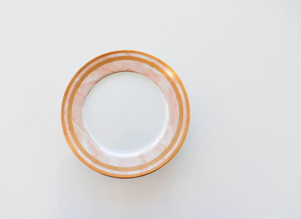 Gaudron Marble Rose Salad Plates
