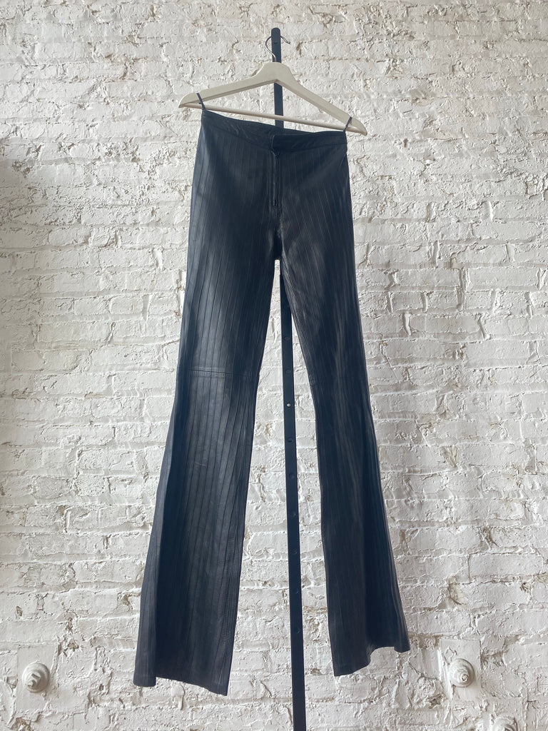 Gucci Black Leather Pants