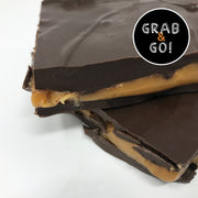 Dark Chocolate Sea Salt Caramel Bark: Grab & Go