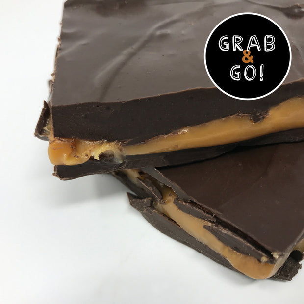 Dark Chocolate Salted Caramel Bark: Grab & Go