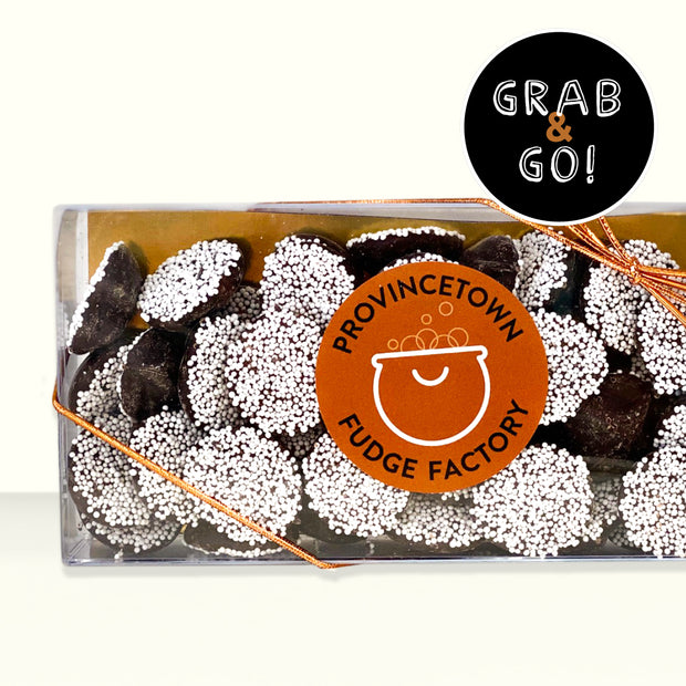 Dark Chocolate Small Nonpareils White: Grab & Go