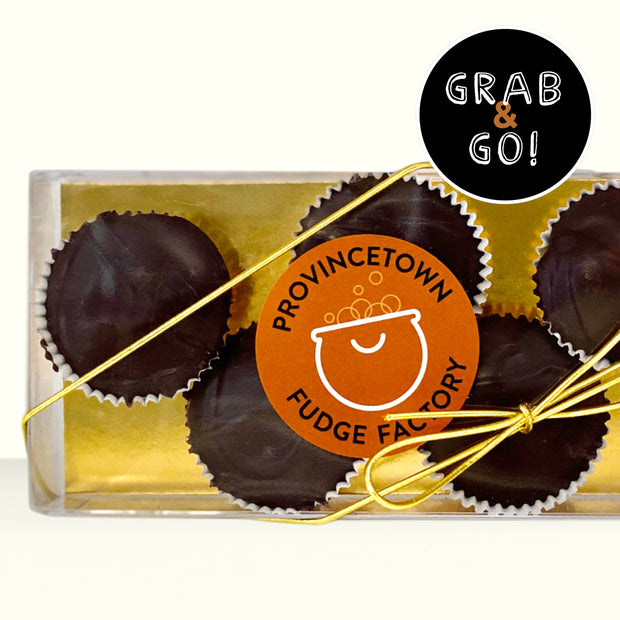 Petite Dark Chocolate Sea Salt Caramel Cups: Grab & Go