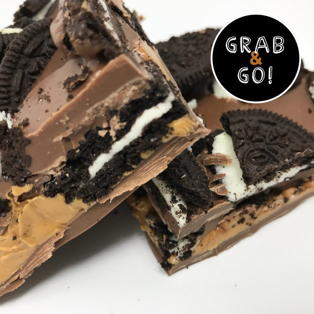 Milk Chocolate Peanut Butter Oreo Bark: Grab & Go