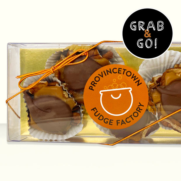 Petite Milk Chocolate Pecan Turtles: Grab & Go