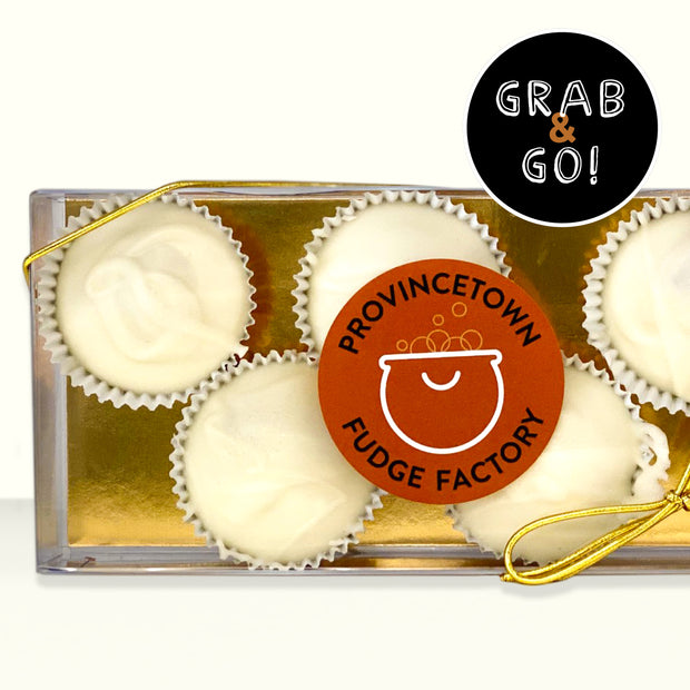 Petite White Chocolate Salted Caramel Cups: Grab & Go