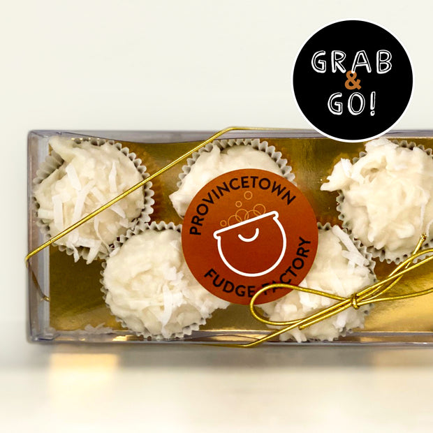 Petite White Chocolate Coconut Haystacks: Grab & Go