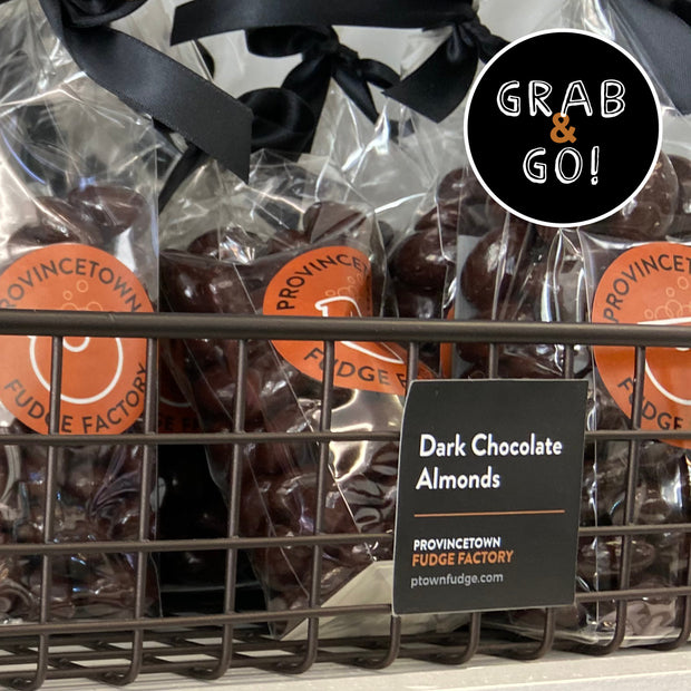 Dark Chocolate Covered Almonds: Grab & Go