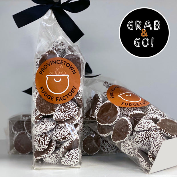 Milk Chocolate Large Nonpareils White: Grab & Go