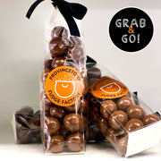 Raspberry Malted Milk Balls: Grab & Go