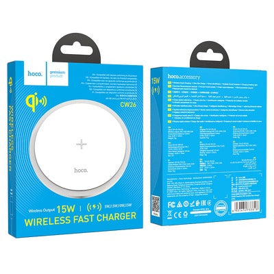 HOCO Powerful 15W wireless fast charger CW26