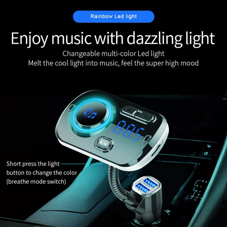 Bluetooth 5.0 Multi-functional Car Bluetooth FM transmitter with  MP3 Player + Quick Charger BC49AQ