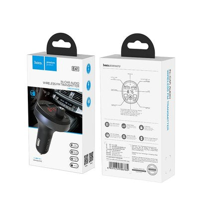 Hoco E41 car charger + Bluetooth FM transmitter