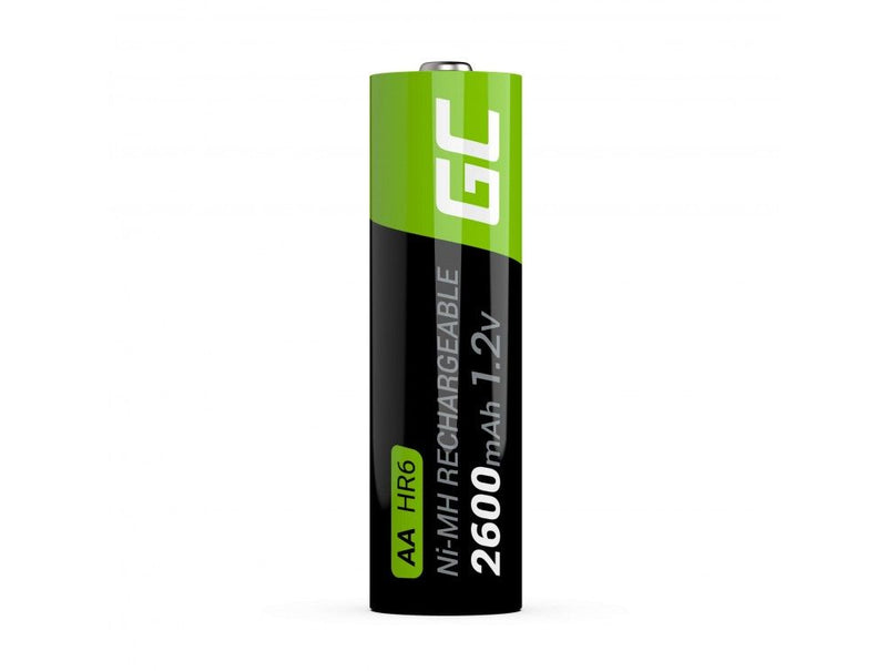 Green Cell, 2 x AA, Rechargeable Batteries, 2600mAh
