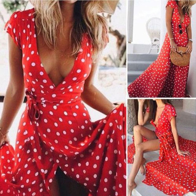 Soliman Summer  Dress / Red
