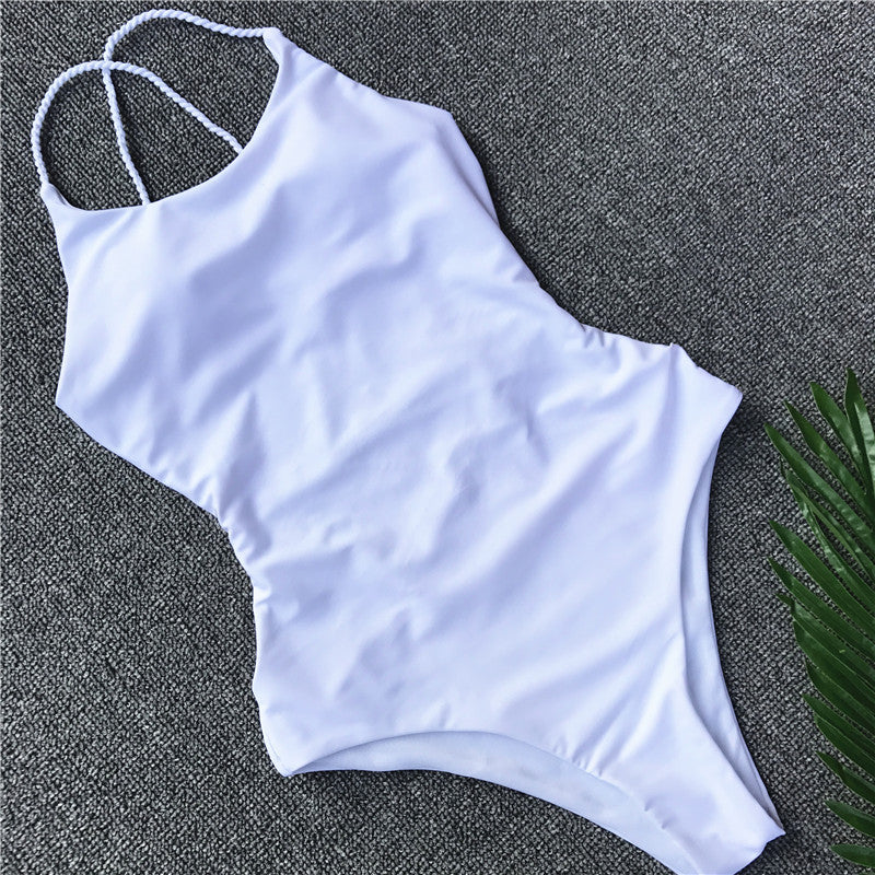 Braided Soliman Swimsuit / White