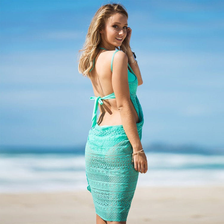 Sandy Point Cover Up / Turquoise