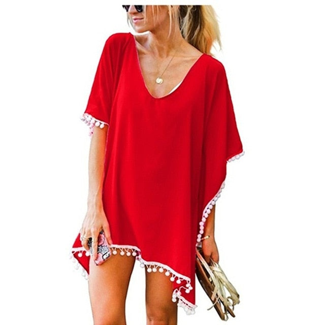 Caribbean Cover Up / Red