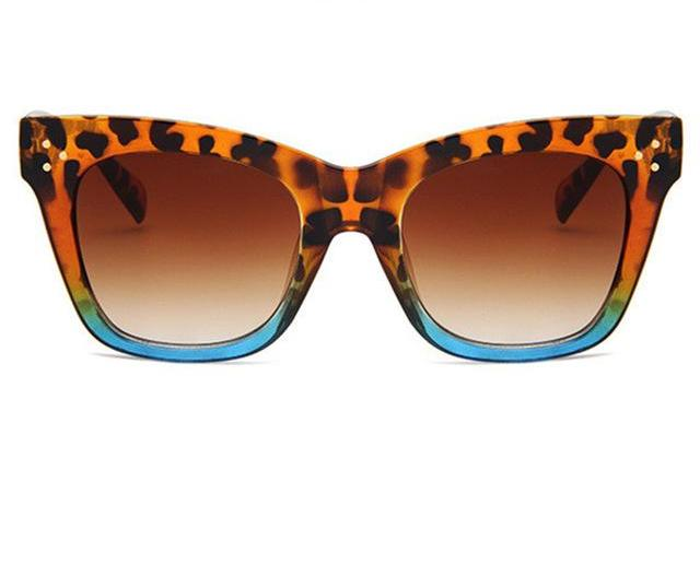 Cat Eye Sunglasses / Leopard Blue
