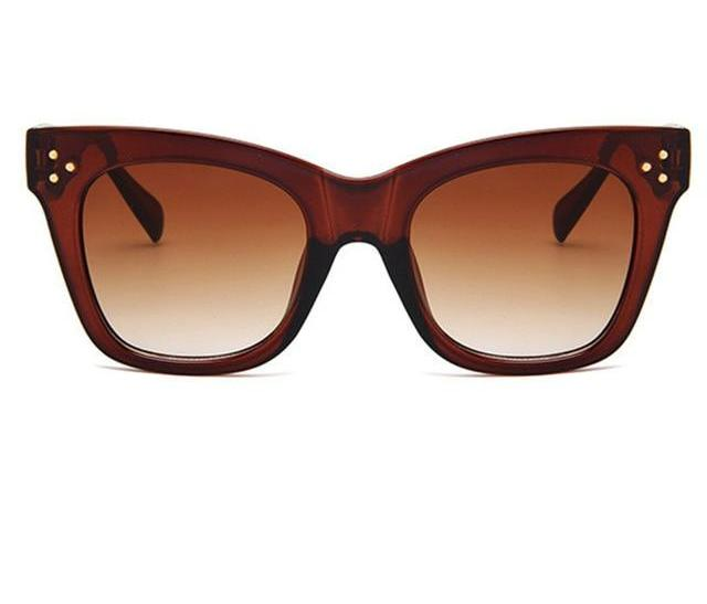 Cat Eye Sunglasses / Brown