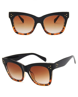 Cat Eye Sunglasses / Black Leopard