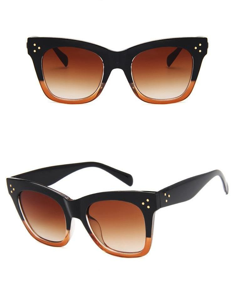Cat Eye Sunglasses / Gradient Leopard